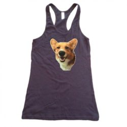 girls three corgis wolfgang tank in black