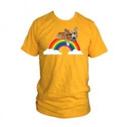Three Corgis Hambone Rainbow Tee