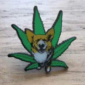 Corgi Weed Pin