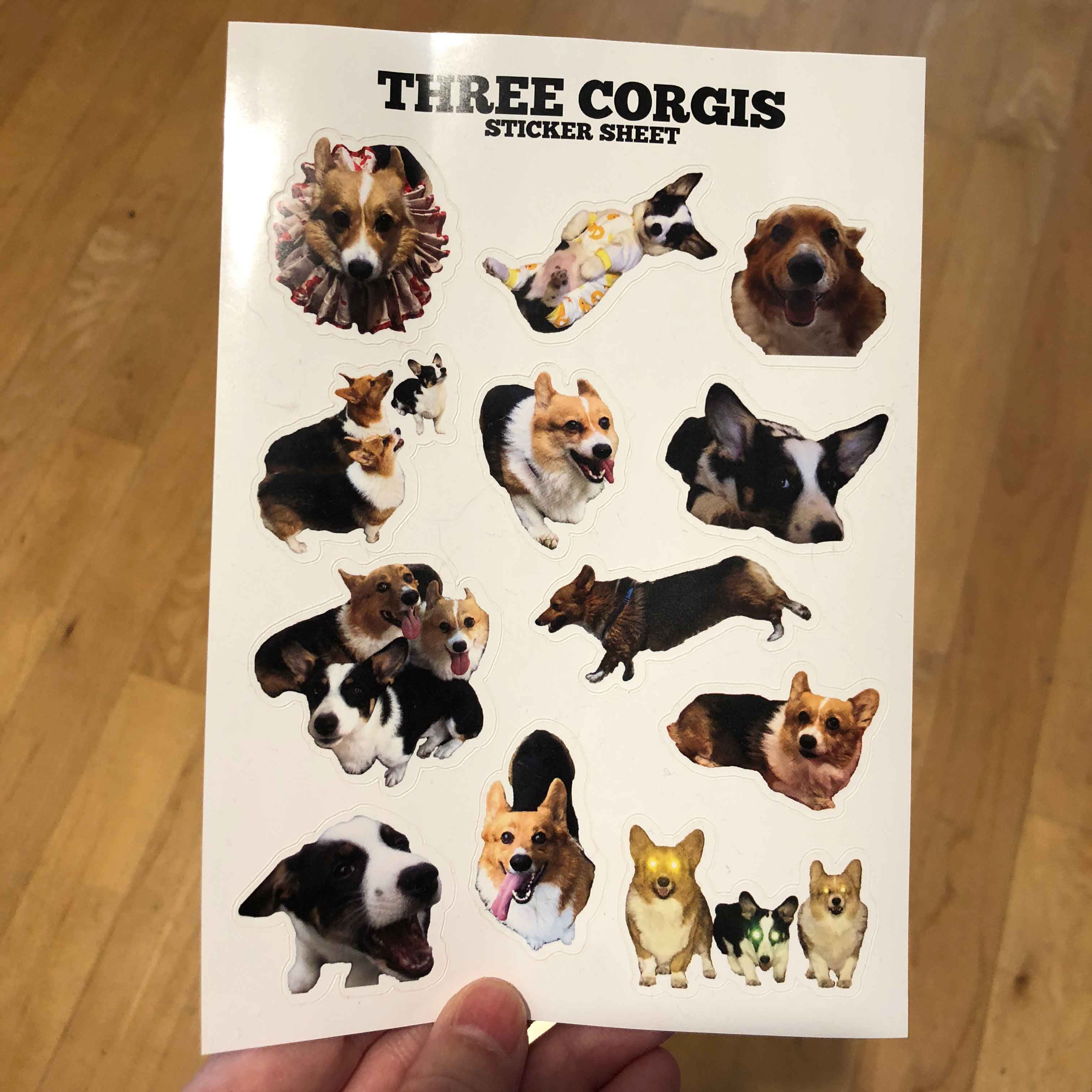 Corgi sticker