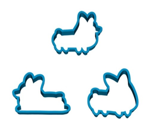 Corgi shaped cookie cutter