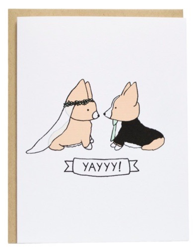Corgi Wedding card