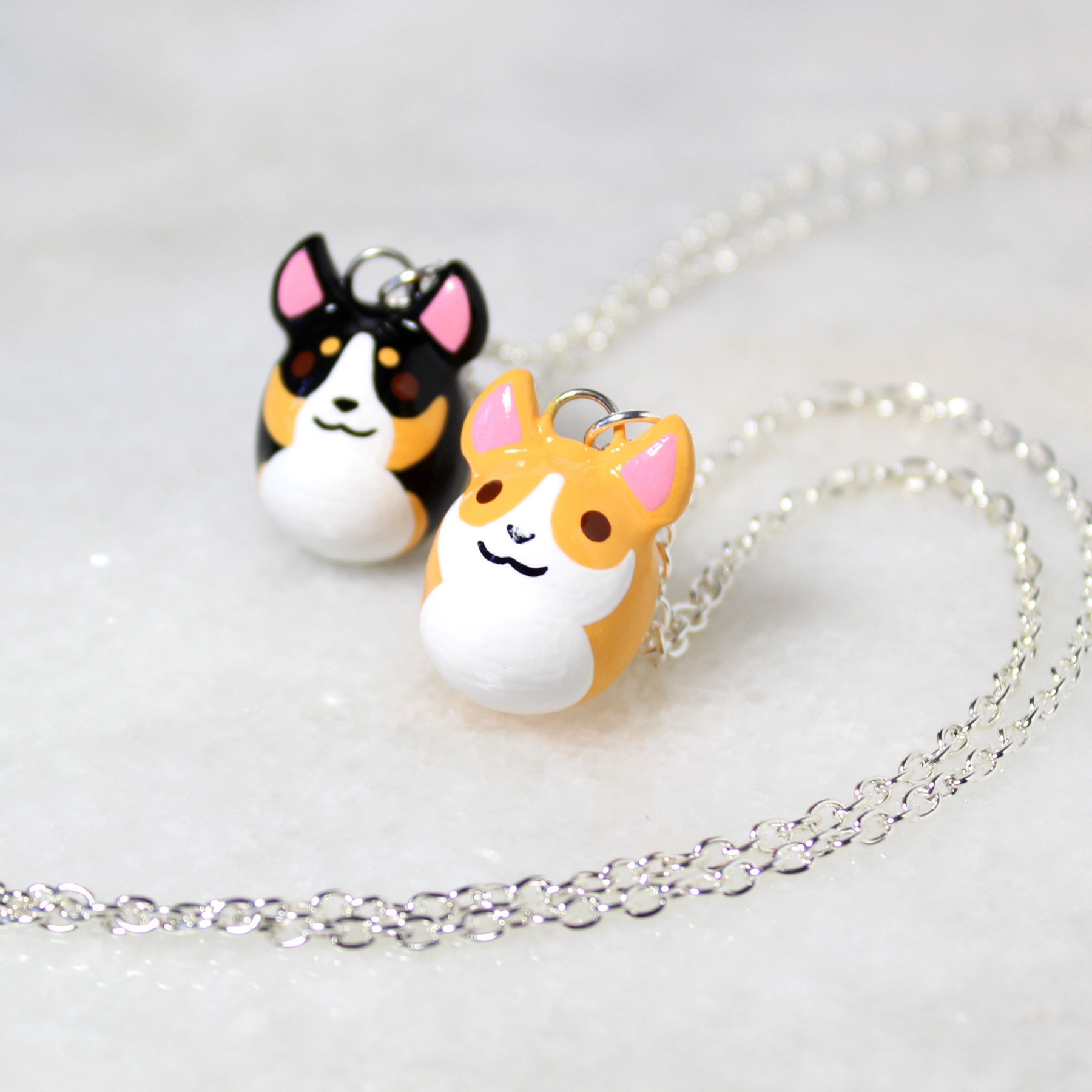 Polymer Clay Corgi Necklace